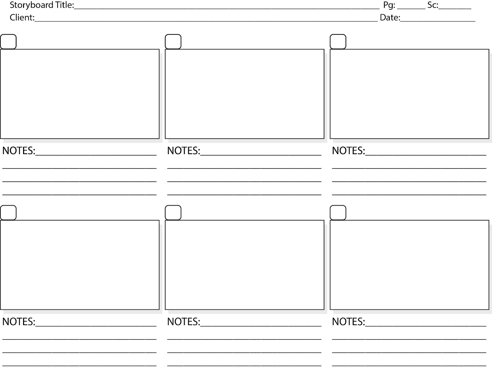 the process of storyboarding